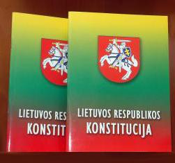 Lietuvos Respublikos Konstitucija | D.Vasiliauskienės nuotr., diena.lt