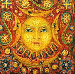 Mitologinė Saulė | dailininkas V.Kašinskas