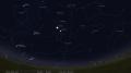 Jupiterio ir Mėnulio susitikimas 17 d.