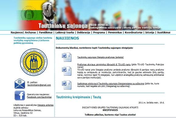 Tautininkų sąjungos svetainė