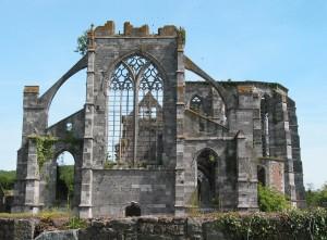 Olnės vienuolyno, iš kurio atvyko Balduinas Alnietis, griuvėsiai Belgijoje