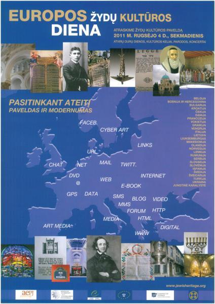 Europos žydų kultūros diena – plakatas