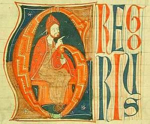 Popiežius Grigalius IX 1270 m. rankraštyje