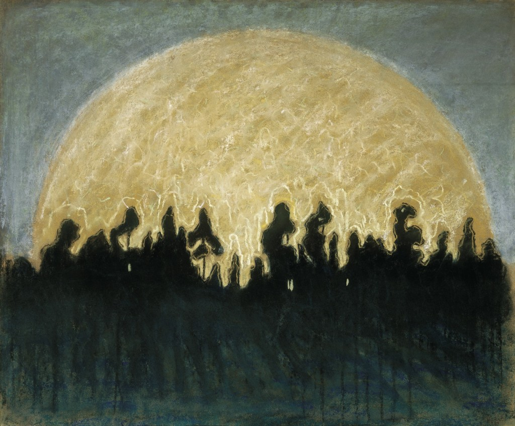 SAULĖ  Popierius, pastelė. 1907.