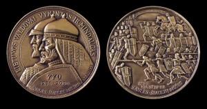 Medalis, skirtas Saulės-Šiaulių mūšio 770-čiui atminti. Autorius skulptorius, medalininkas Juozas Kalinauskas