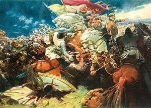 Saulės mūšis. Voldemaro Vimbos paveikslas