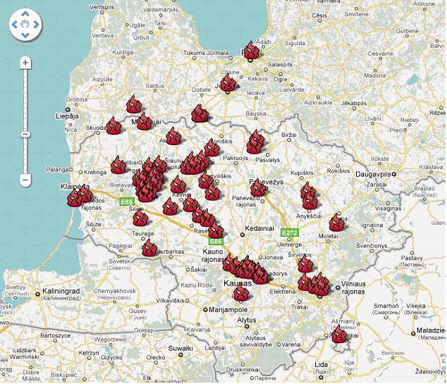 Ugnių žemėlapis, Baltų vienybės dieną, 2010 m.