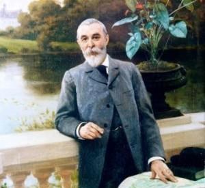 Debat Ponsano 1902 m. sukurto E.F.Andre portreto fragmentas