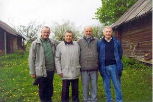 Romas Gudaitis, Vacys Bagdonavičius, Jonas Trinkūnas ir Antanas Gudelis | Nuotrauka iš asmeninio R. Gudaičio archyvo