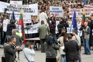 Lenkų mitingas prieš švietimo įstatymą | DELFI, A.Solomino nuotr.