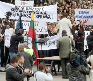 Lietuvos lenkų mitingas | delfi.lt, A.Solomino nuotr.