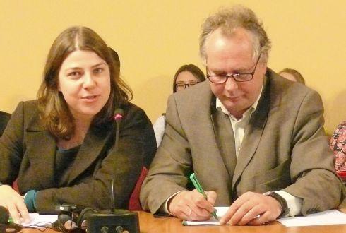 Johana M. Keller, Gethe instituto direktorė ir dr. Alvydas Nikžentaitis.