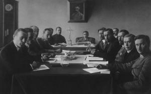 Suvalkų sutarties derybų akimirka