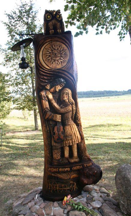 Tautodailininko A.Tarabildos skulptūra