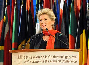 Kalba UNESCO Generalinės konferencijos 36-ios sesijos Prezidentė Katalin Bogyay