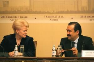 Dalia Grybauskaitė ir Kazachstano Ministras Pirmininkas Karimas Masimovas | Lietuvos Prezidentūros spaudos tarnybos nuotr.