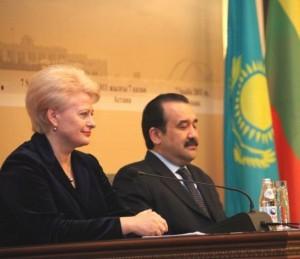 Dalia Grybauskaitė ir Kazachstano Ministras Pirmininkas Karimas Masimovas | lrp.lt nuotr.