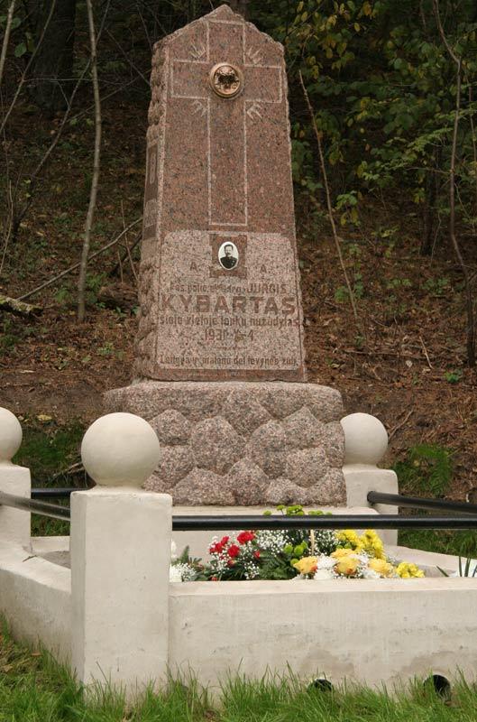 Paminklas lenkų nužūdytam pasieniečiui Jurgiui Kybartui   pasienis.lt nuotr.