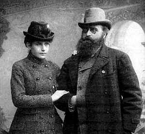Jonas Basanavičius su žmona Gabriele Eleonora Mohl | bulgarijalietuviams.blogspot.lt nuotr.