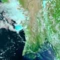Potvynis Birmoje. NASA nuotr.