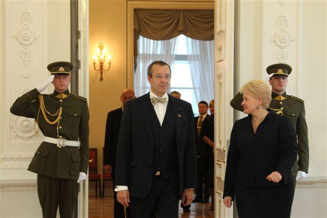 Dalia Grybauskaitė priima Estijos prezidentą | lrp.lt nuotr.