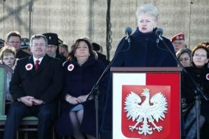 Dalia Grybauskaitė sveikina lenkus su Nepriklausomybės diena   lrp.lt nuotr.