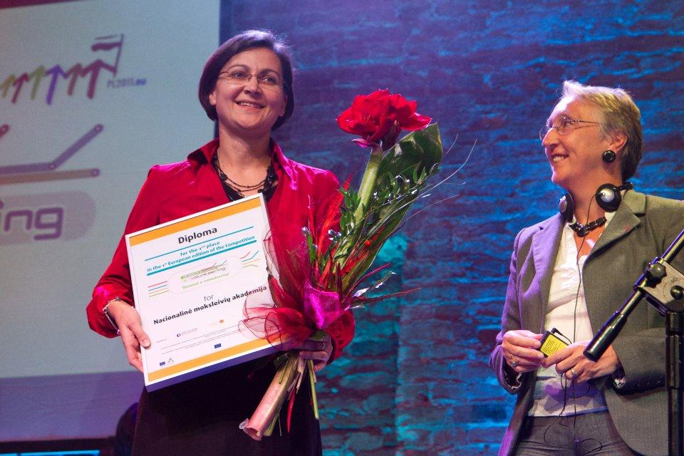 Egle Daunienė, NMA direktorė ir Mireille Le Van, Orange foundation generalinė sekretorė