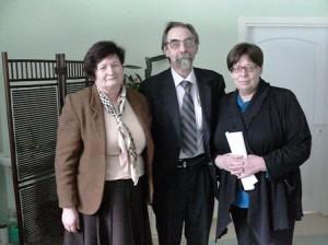 Prof. G.Blažienė, prof. N.Kazanskis, doc. V.Kazanskienė