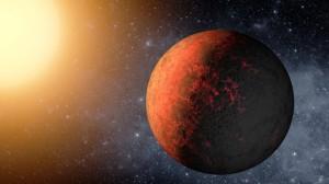 Dailininko akimis artimiausioji Kepler-20e planeta. NASA pav.