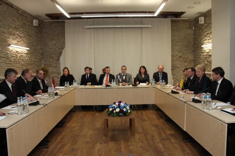 Prezidentė Dalia Grybauskaitė dalyvavo Baltijos šalių Prezidentų susitikime Estijoje | Dž.G.Barysaitės nuotr., lrp.lt