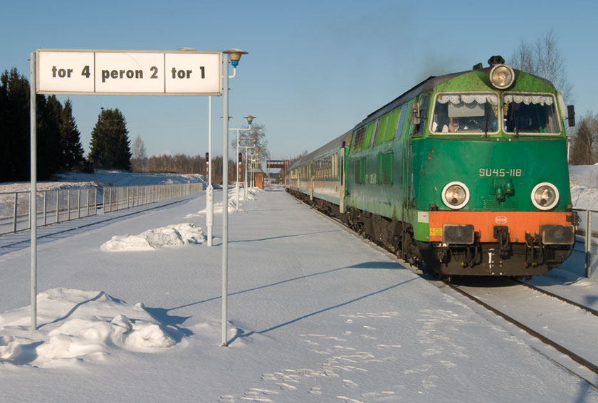 Traukinys Šeštokai-Suvalkai Trakiškėse