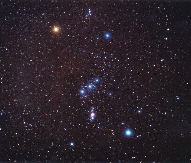 1 pav. Šienpjovių (Oriono) žvaigždynas, NASA nuotr.