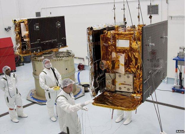 Zondai dviniai, kurie sveria po 300 kg. NASA pav.