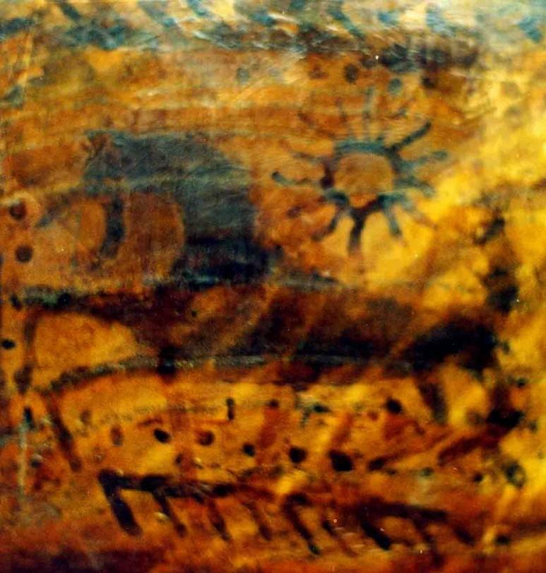 1 Pav. Zodiakinis Vandenio žvaigždynas pavaizduotyas kaip šuoliuojantis žirgas ant viduramžių apeiginio kaušo iš Gardino | J.Vaiškūno nuotr.