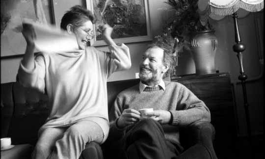 Regimantas Adomaitis su žmona Eugenija Bajoryte (1941-2011)