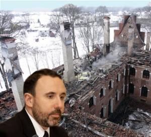 Ministrui A.Gelūnui neaišku kodėl dega ką tik restauruoti pastatai