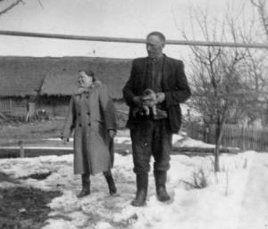 Juozas Degutis su dukra Anele