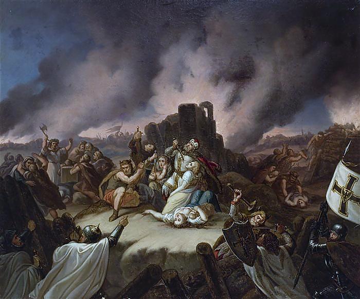 Pilenai. XIXa Vladislavo Majeranovskio (Władysław-Majeranowski) paveikslas.