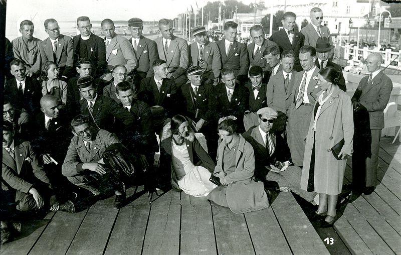 VDU studentai Krance (buv. Vokietija) 1930 m. rugpjūčio 19 d.