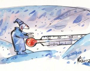 Žiema. Šalta | Kęstučio K.Šiaulyčio pieš.
