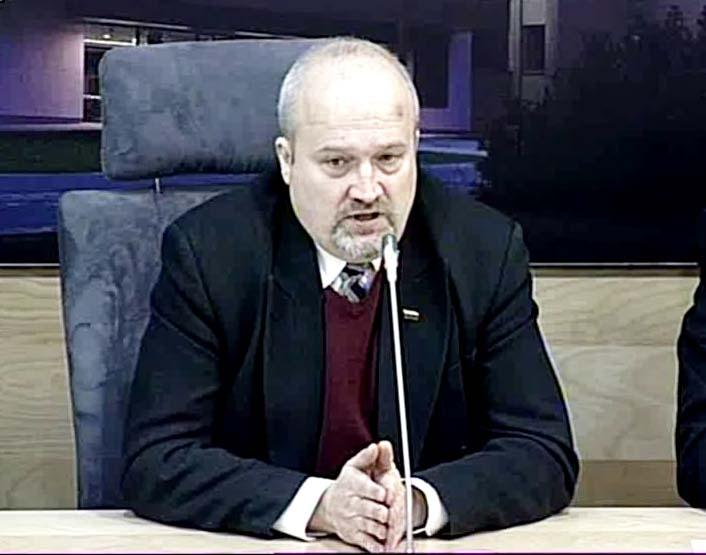 Tautininkų sąjungos pirmininkas, seimo narys Gintaras Songaila | video reportažo stop kadras, lrs.lt