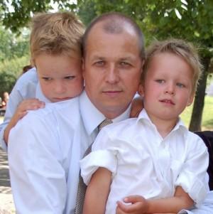 Vytautas V. Landsbergis su vaikais