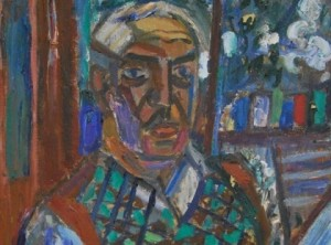 Viktoras Vizgirda. Autoportretas. 1959 m. | juskusgallery.com