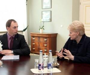 Ž.Plytnikas ir D.Grybauskaitė | lrp.lt nuotr.
