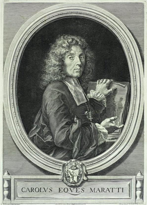 Jakobas Frėjus (Jacob Frey, 1681–1772) Karlo Maračio (1625–1713) autoportretas Vario raižinys