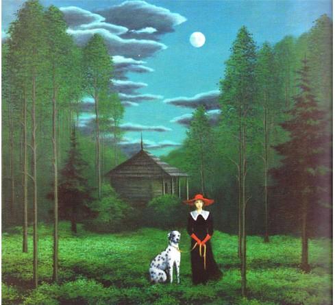 E.Kniūkštaitė Moteris su dalmatinu