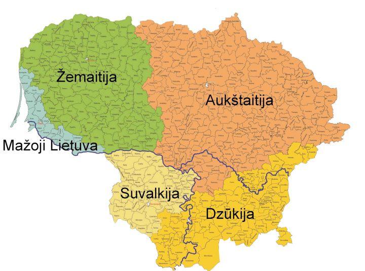 Etninės kultūros globos tarybos užsakymu 2003 m. yra parengtas Lietuvos etnografinių regionų žemėlapis
