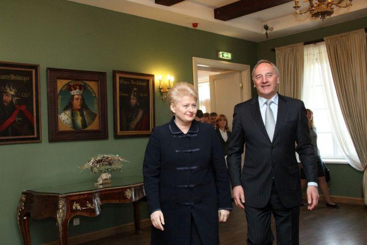 D.Grybauskaitė ir A.Bėrzinis (A.Bērziņš) | lrp.lt nuotr.