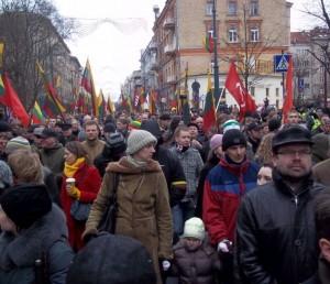 Kovo 11-osios patriotinės eitynės Vilniuje | Alkas.lt, T.Baranausko nuotr.