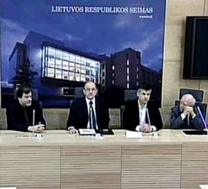 Spaudos konferencija Seime | lrs.lt video stopkadras